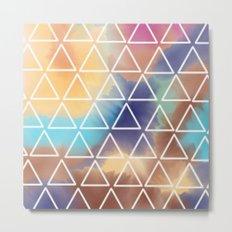 Rainbow Triangles Metal Print