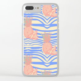 Zebra and pineapple Clear iPhone Case