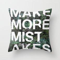Mistakes Throw Pillow