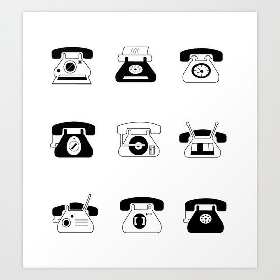 Fifties' Smartphones Art Print