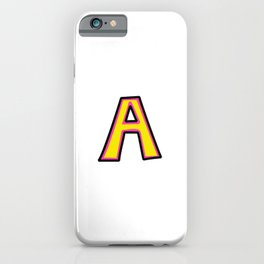 Uppercase Letter A Doodle iPhone Case