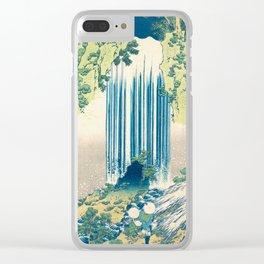 Katsushika Hokusa - Yoro Waterfall in Mino Province Clear iPhone Case