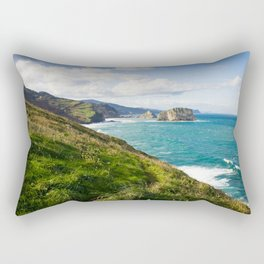 Basque Country coast landscape Rectangular Pillow