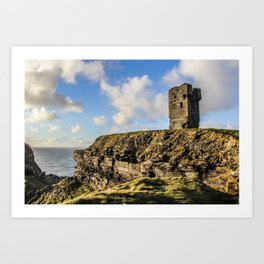 Travel to Ireland: Watching Over the Cliffs of Moher Art Print