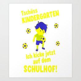 School enrolment soccer school child busdriver Art Print