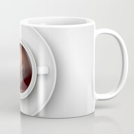 cup of coffee on a white background Coffee Mug