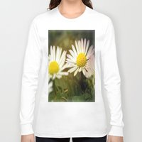daisies Long Sleeve T-shirts featuring Daisies by LoRo  Art & Pictures