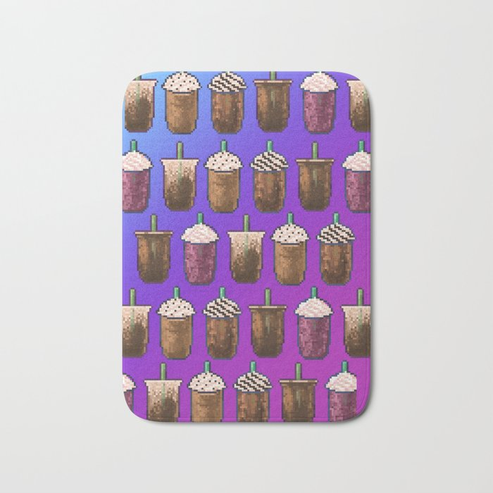 Cold Coffee Collage Bath Mat