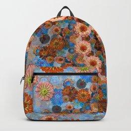 Happy light blue background Backpack