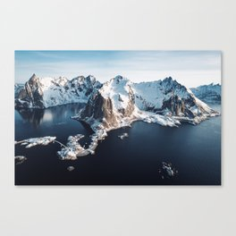 lofoten skyline Canvas Print