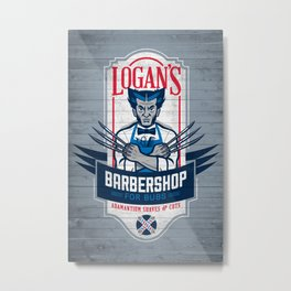 Logan's Barbershop Metal Print