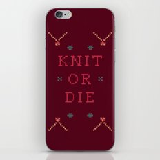 Knit or Die iPhone & iPod Skin