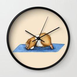 Yoguineas - Downward Facing Dog Wall Clock