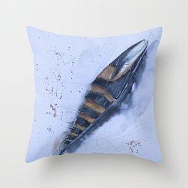 Sea snail - Mitra zonata Throw Pillow