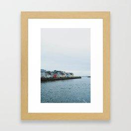 Galway, Ireland Long Walk Framed Art Print