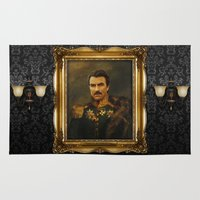 replaceface Area & Throw Rugs featuring Tom Selleck - replaceface by replaceface