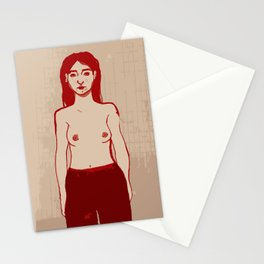 Red Nude Stationery Cards
