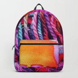 Rainbow tassels Backpack