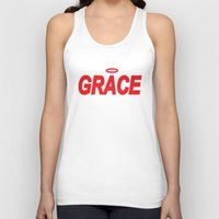 grace Tank Tops featuring Grace by Mr.Tellmesomething