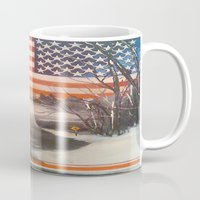 flag Mugs featuring Flag by Boyce Cummings