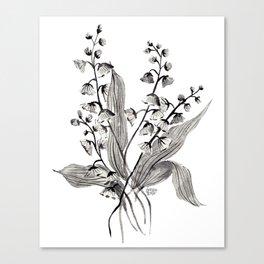 GREYSCALE BOTANICALS Canvas Print