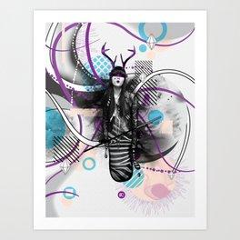 Moody Mind Poster Art Print