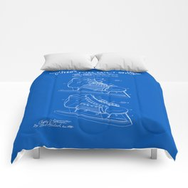 Hockey Skate Patent - Blueprint Comforters
