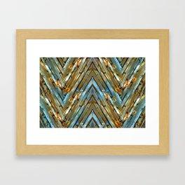Knotty Plank Texture Framed Art Print