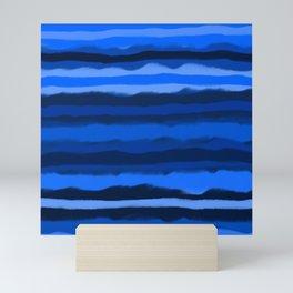 Hazy Blue Stripes Mini Art Print