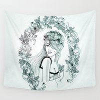 olivia joy Wall Tapestries featuring Olivia by Quill