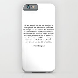 She was beautiful iPhone Case
