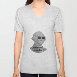 George Washington Cool Sunglasses American Gangster Unisex V-Neck
