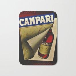 1957 Vintage Bitter Campari Aperitif Advertisement Poster by Carlo Fisanotti Bath Mat