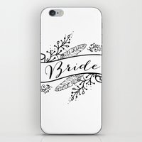 bride iPhone & iPod Skins featuring Bride by Alexis Wright