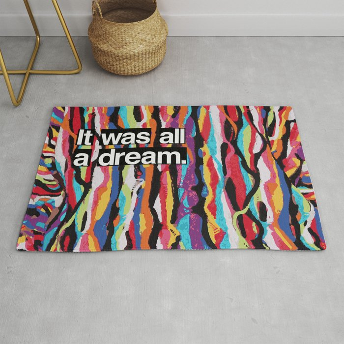 """It Was All A Dream"" Biggie Smalls Inspired Hip Hop Design Rug"