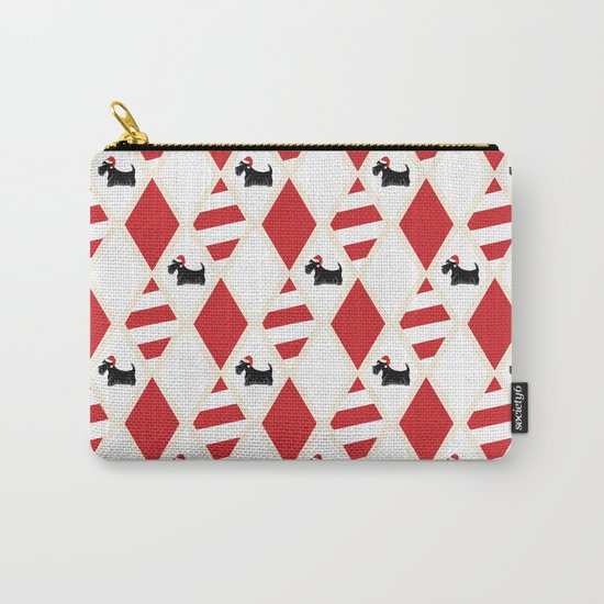 Scottie Dog Christmas Pattern Carry-All Pouch