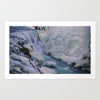 Waterfall - Iceland Art Print