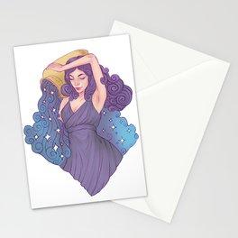 Aquarius Zodiac Sign Stationery Cards