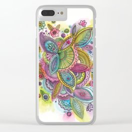 Fairground Paisley Clear iPhone Case