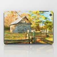 cabin iPad Cases featuring Pucketts Cabin by ThePhotoGuyDarren