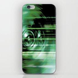 Green music speakers iPhone Skin