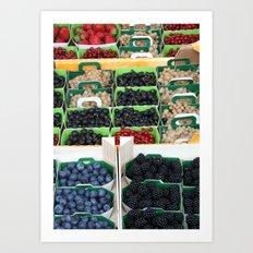 Les Fruits Summer Art Print