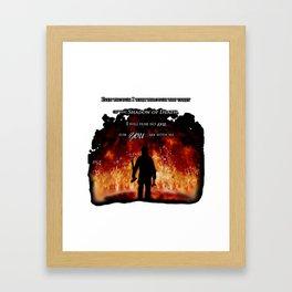 Firefighter Tribute Framed Art Print