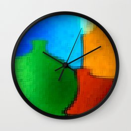 Colored jugs. Wall Clock