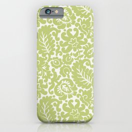 Pastel Green Floral Pattern iPhone Case