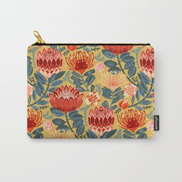 Protea Chintz - Mustard Carry-All Pouch