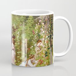 Hollyhocks 1876 By Eastman Johnson | Reproduction Coffee Mug