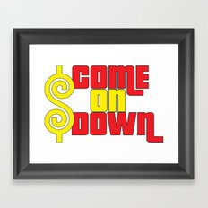 Come On Down Framed Art Print