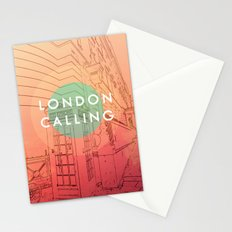 Songs and Cities: London Calling Stationery Cards