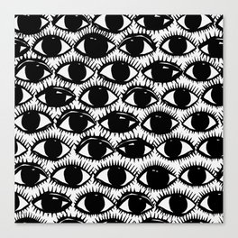 Inky Eyes Canvas Print